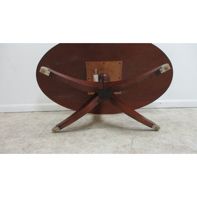 Ethan Allen Flame 18th Mahogany Oval Coffee Table Newport For Sale - Image 9 of 13