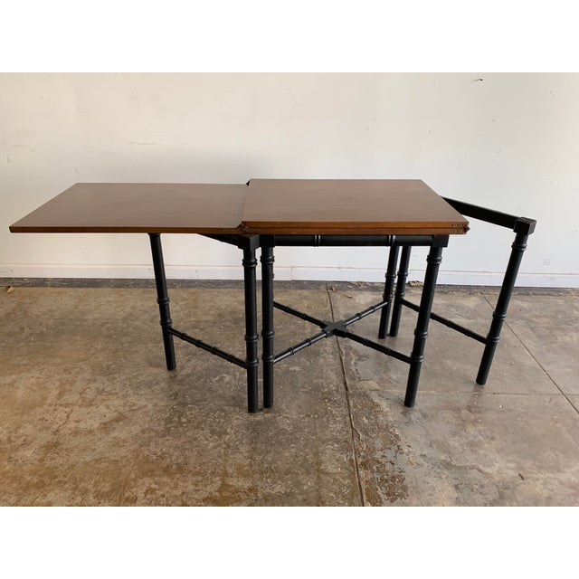 Vintage Drexel Expandable Bamboo Console For Sale In Los Angeles - Image 6 of 13