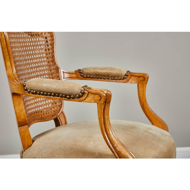 Wood 19th Century Louis XV Style Caned Armchairs - Set of 4 For Sale - Image 7 of 11