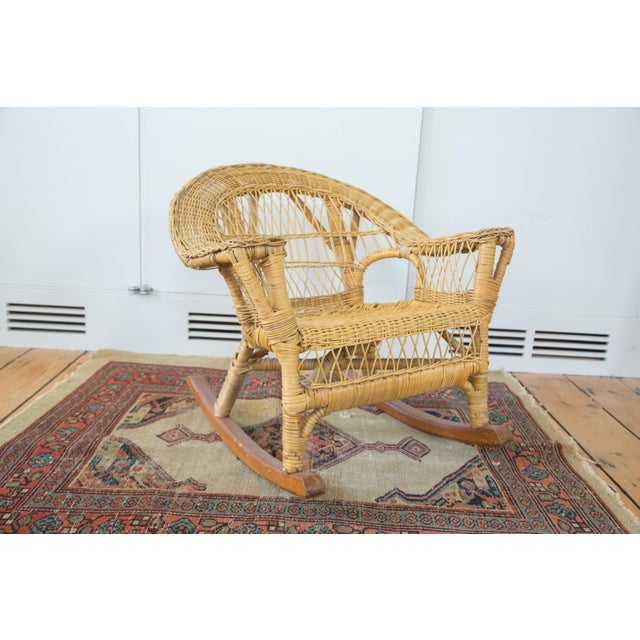 Vintage Boho Wicker Child's Chair - Image 2 of 6