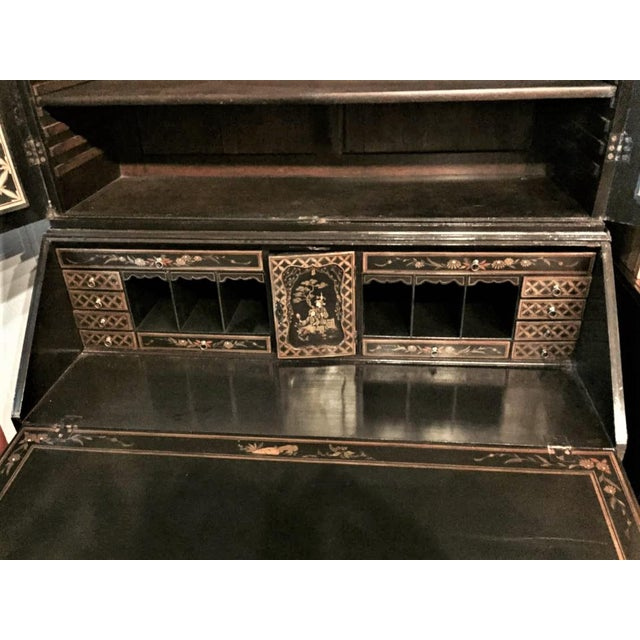 English Secretary Chinoiserie Bookcase, 1770 For Sale - Image 4 of 10