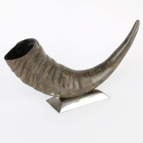 1970's VINTAGE SCULPTURAL WATER BUFFALO HORN ACCESSORY For Sale In New York - Image 6 of 8