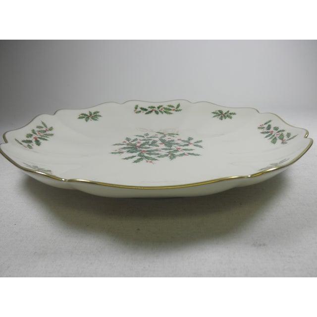 Vintage Holly Print Platter - Image 5 of 5