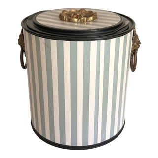 Hollywood Regency Ice Bucket a Là Dorothy Draper For Sale