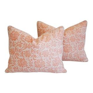 "23"" X 18"" Designer Italian Fortuny Cimarosa Feather/Down Pillows - Pair"