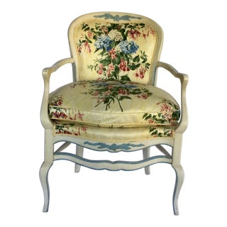 1970s Vintage Floral Upholstered Chair For Sale