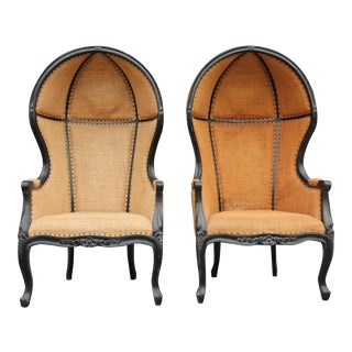 Vintage French Canopy Chairs - a Pair For Sale