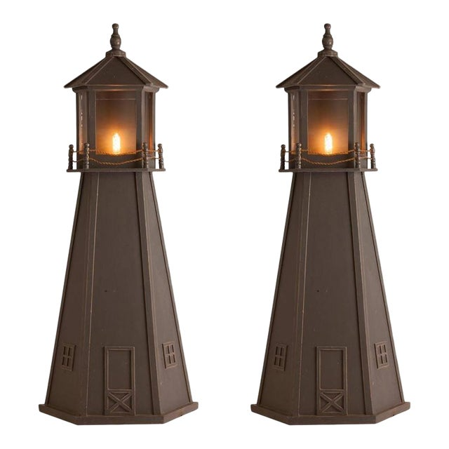 Pair of French Mid-Century Lighthouse Sconces - Image 1 of 3