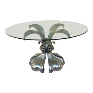 1970s Vintage Biomorphic Aluminum Poppy Dining Table For Sale