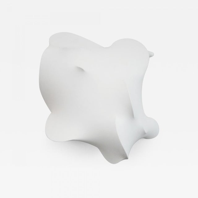 "Eric Hibit Stretched Fabric Sculpture Entitled ""White #2"" by Eric Hibit For Sale - Image 4 of 4"