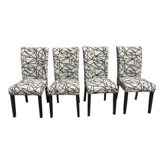 Modern Rolled-Back Dining Chairs - A Pair
