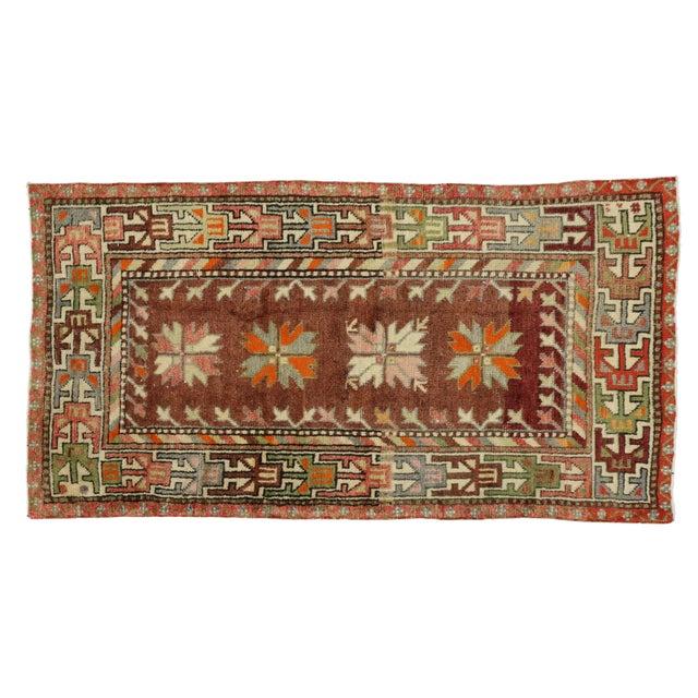 Vintage Mid-Century Turkish Oushak Rug - 2′9″ × 5′3″ For Sale - Image 4 of 5