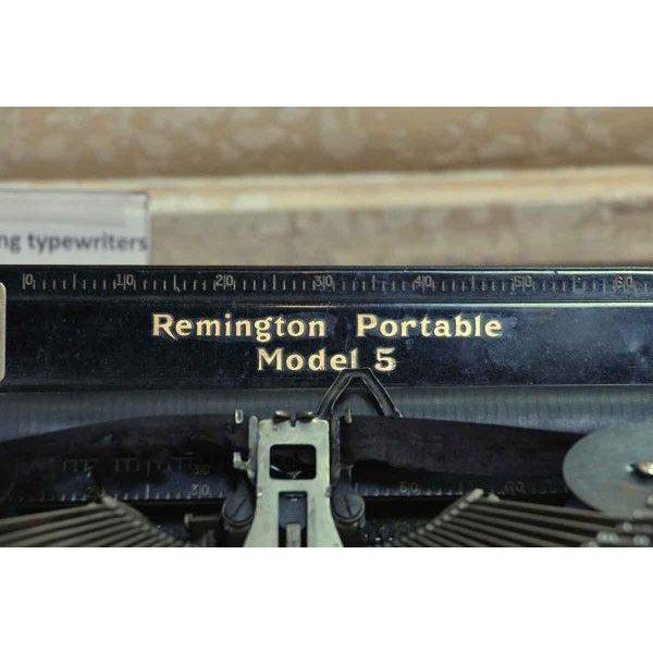 Remington Portable Model 5 Typewriter With Case - Image 3 of 7