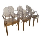 Image of Philippe Starck Ghost Chairs - Set of 6 For Sale