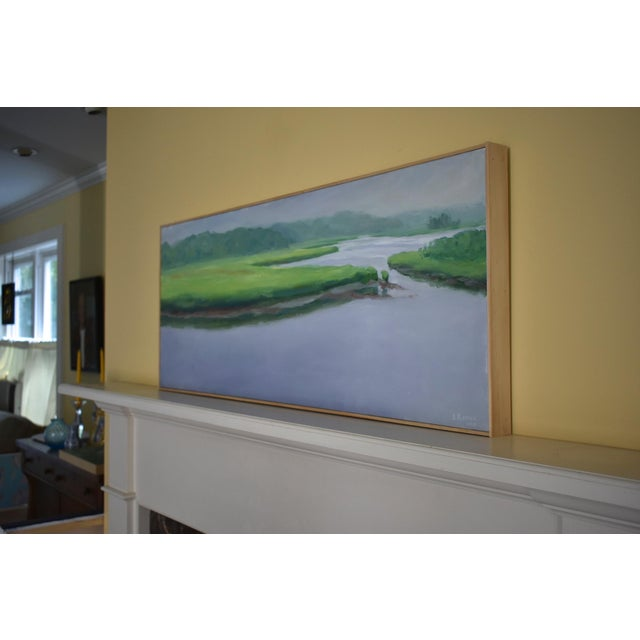 """Contemporary Plein Air Painting """"Adamsville Landing"""" by Stephen Remick For Sale - Image 9 of 13"""