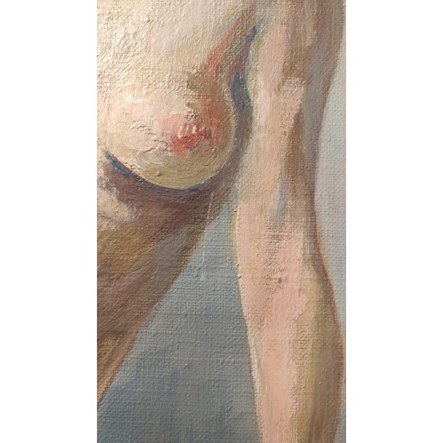 Ismael De La Serna - Mujer Desnuda Mid-Century Oil Painting For Sale - Image 5 of 10