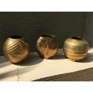 South East Asian / Indian MidCentury Brass Water Urn / Vase - Set of 3 Preview