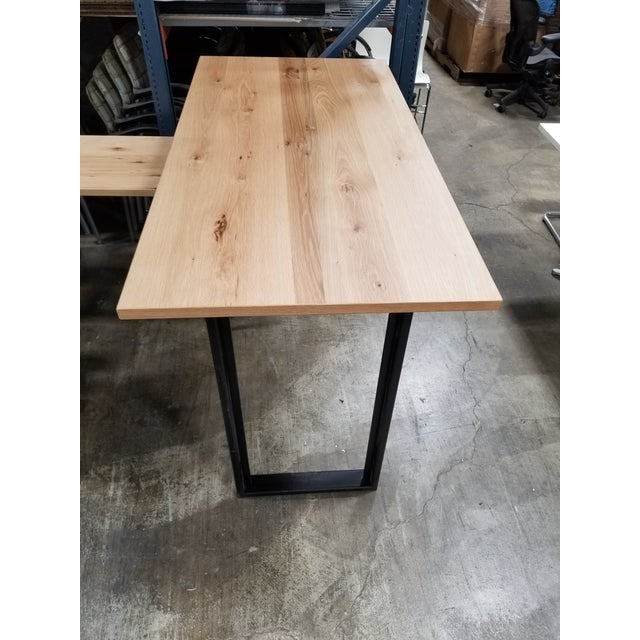 West Elm Industrial West Elm High Top Console Table For Sale - Image 4 of 5
