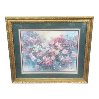 Lena Liu Rose in Bloom - Numbered Lithograph For Sale