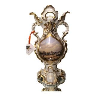 Rare Antique Schloss Brucke Berlin Porcelain Scenic Vase For Sale