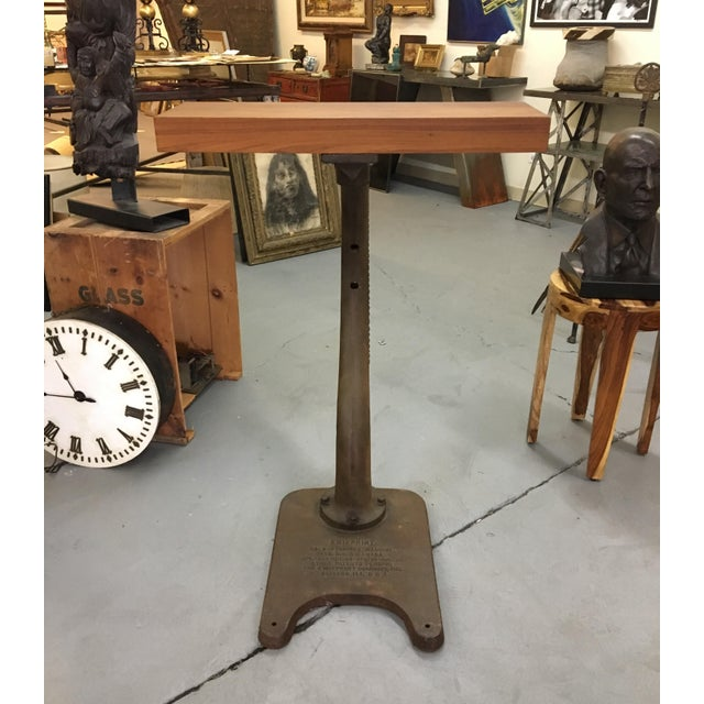 Vintage Industrial Kwikprint Gold Stamping Machine Stand For Sale - Image 5 of 8
