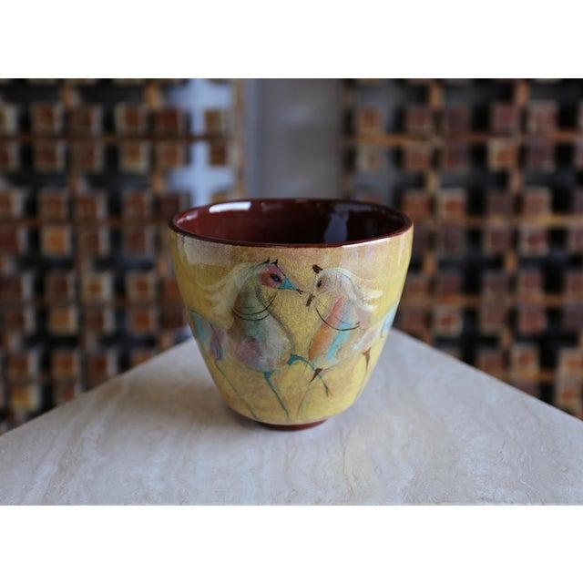 Mid-Century Modern Vintage Mid Century Polia Pillin Ceramic Bowl For Sale - Image 3 of 7