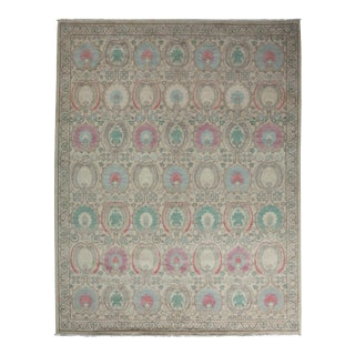 "New Hand-Knotted Oushak Rug - 11' 7"" X 9' 1"" For Sale"