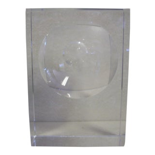 Orrefors Geometric Crystal Sculpture For Sale