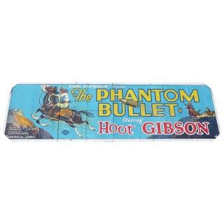 """The Phantom Bullet"" Movie Ad Banner Poster 1926 For Sale"