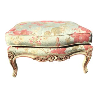 Baker Furniture Company Floral Ottoman