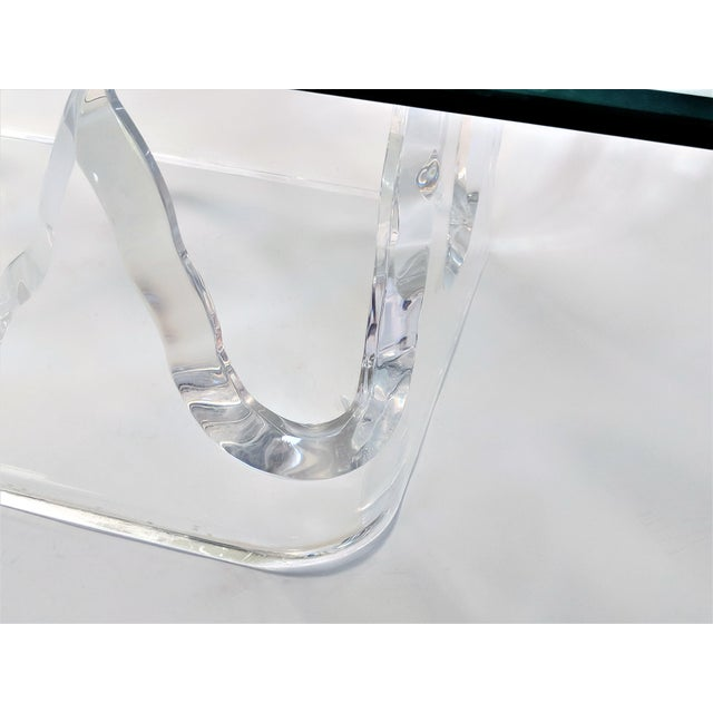 Plastic Lion in Frost Style Lucite Iceberg Coffee 2-Piece Table Base For Sale - Image 7 of 13