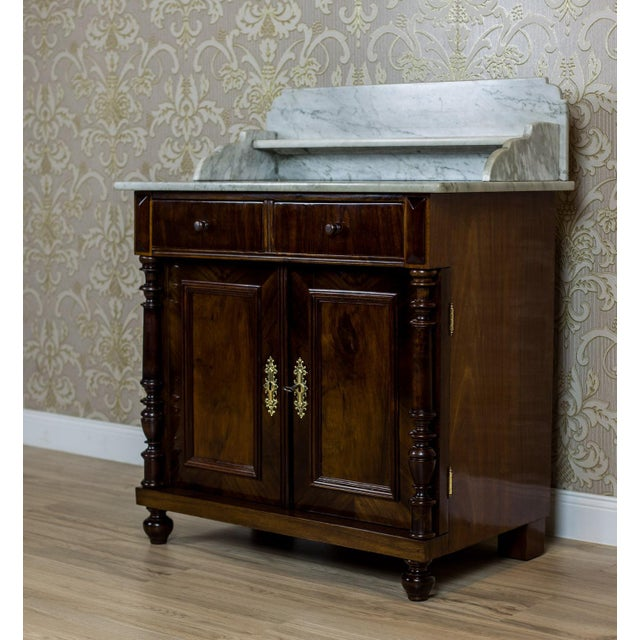 19th Century Basin Cabinet Veneer with Walnut For Sale - Image 6 of 13