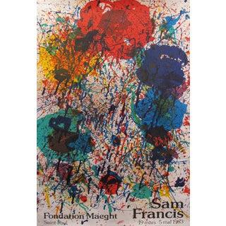 1983 Original Art Exhibition Poster - Sam Francis - Fondation Maeght Saint-Paul For Sale