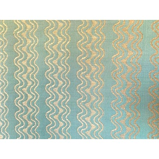 """Stark-Fonthill Fabric Remnant """"Clearwater- Surf"""" Fabric - 2-1/2 Yards For Sale"""