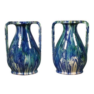 Pair of French Faïence Vases For Sale