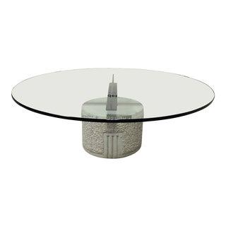 Paracarro Table by Saporiti Italia. Designed by Giovanni Offredi For Sale