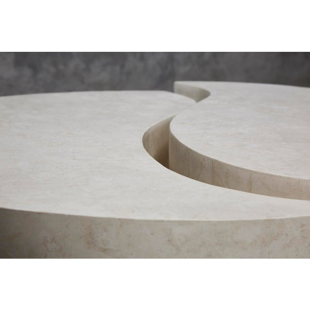 """1990s Contemporary Freeform White Stone Two Part """"Hampton"""" Coffee Table For Sale In Los Angeles - Image 6 of 13"""
