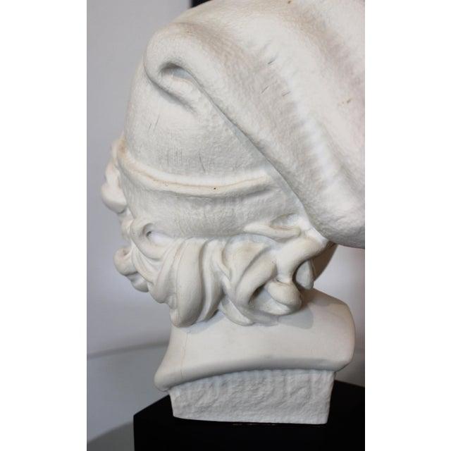 "White Vintage Carpeaux Sculpture ""Neopolitan Fisherboy"" 1857 on Revolving Base For Sale - Image 8 of 11"
