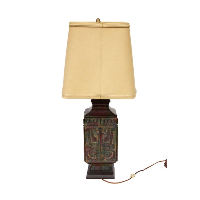 Metal Vintage Table Lamp by Marbro Lighting For Sale - Image 7 of 12