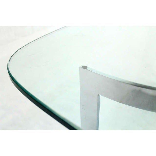 Mid-Century Modern Chrome and Glass-Top Coffee Table For Sale - Image 4 of 10