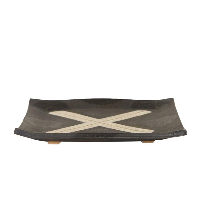 Danish Modern Contemporary X Platter by Matthew Ward For Sale - Image 3 of 4