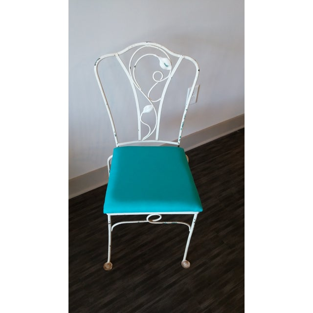 1950s Salterini Magnolia Group Iron Chairs - Set of 4 For Sale - Image 5 of 8