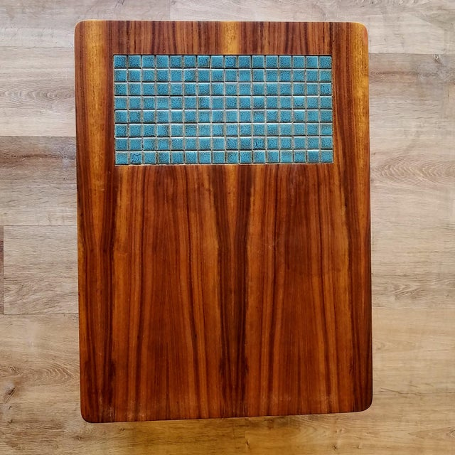 Mid-Century Modern 1960s Lane Side Table With Mosaic Tile Inlay For Sale - Image 3 of 13