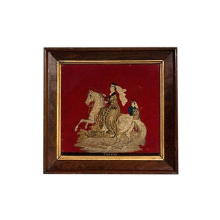 Late 19th Century Petit Point Honoring Queen Victoria Needlepoint For Sale