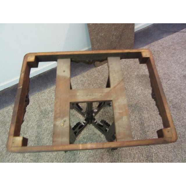Antique Victorian Marble Top Side/Lamp Table - Image 9 of 11