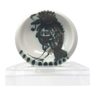 Pablo Picasso Signed Bird and Worm Bowl For Sale