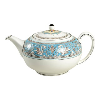Wedgwood Florentine Turquoise Teapot & Lid For Sale