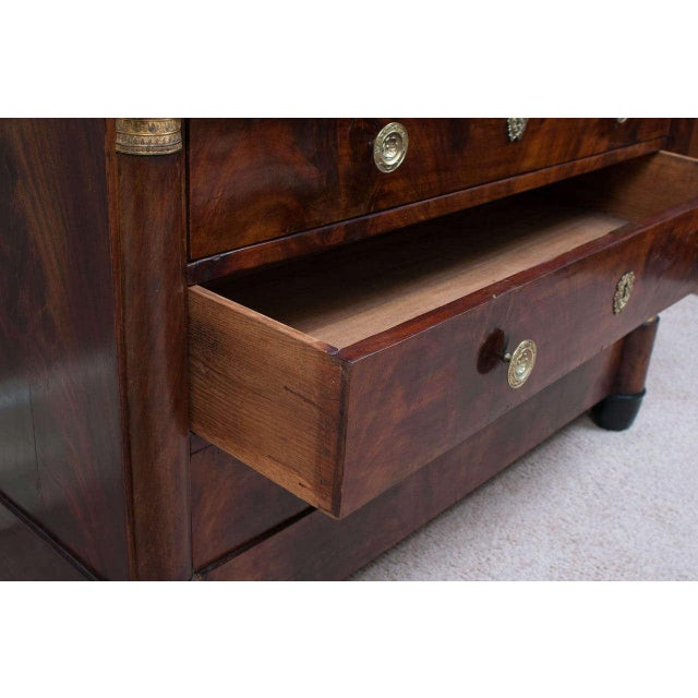Mid 19th Century Empire Commode with Faux Marble Top For Sale - Image 5 of 9