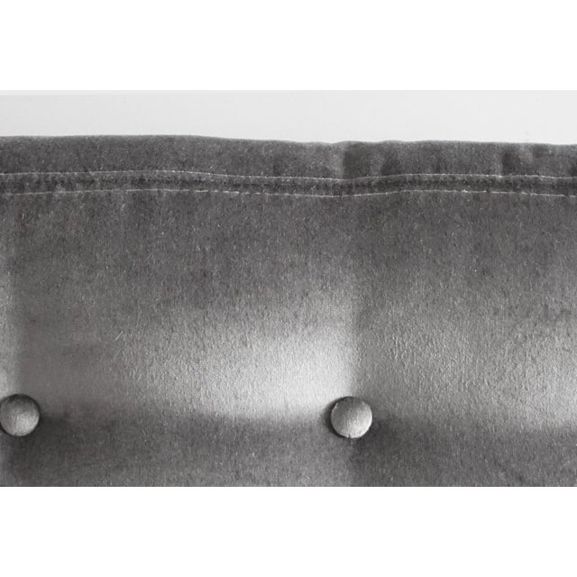 Mohair Milo Baughman Grey Mohair Scoop Cube Lounge Chair For Sale - Image 7 of 7