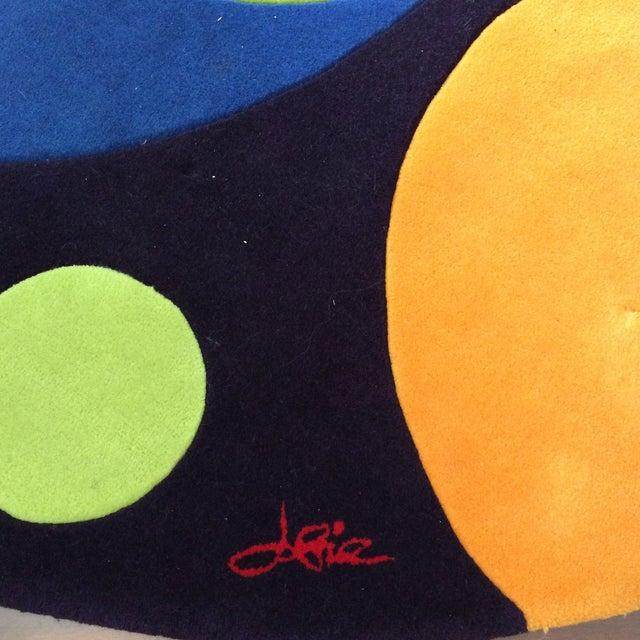 Vintage Op Art Hand Tufted Wool Rug -- 7' x 7' - Image 3 of 9